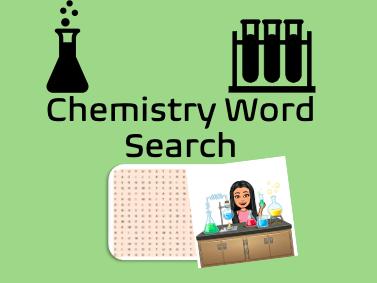 Chemistry Energy Wordsearch