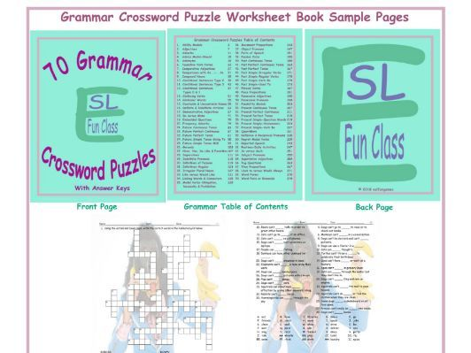 70 Grammar Crossword Puzzles Book by eslfungames - Teaching ...