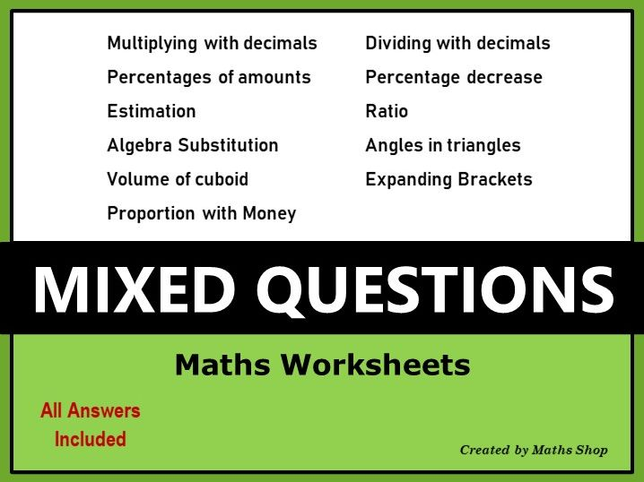 Revision - Mixed Questions