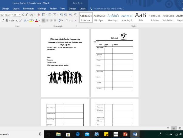 BTEC Component 2 Drama Student Assessment Booklet