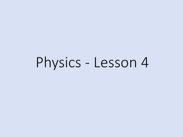 Physics GCSE - Tuition Lesson 4