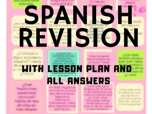 Spanish Alevel revision game