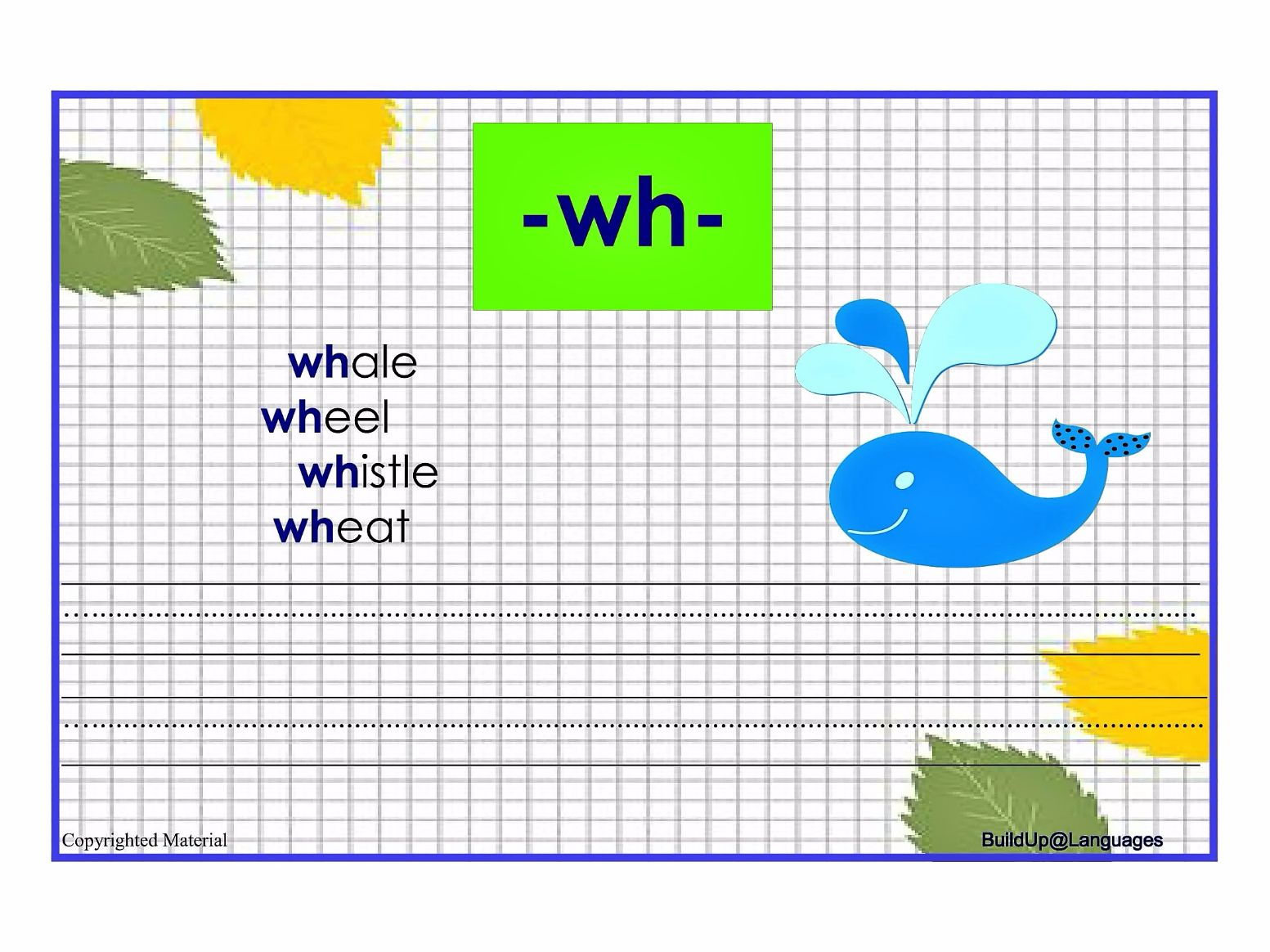 Practise phonics -qu,-ch,-ow,-sh,-th,-wh