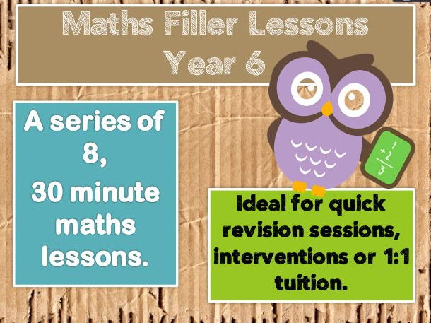 Maths Revision SOW - 8  Mini  (30 minute ) lessons.