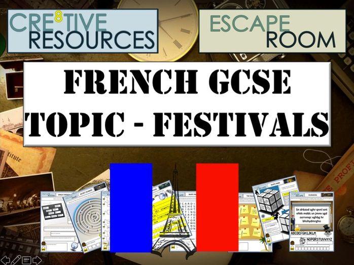 MFL French Escape Room - Festivals