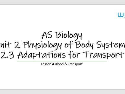 2.3 Lesson 4 Blood & Oxygen Dissociation Curves