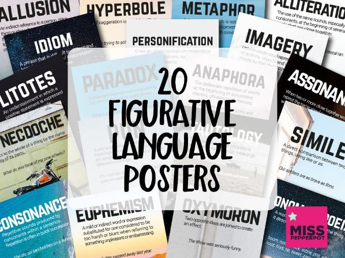 Figurative Language Posters, 20 Figurative Language Posters