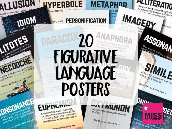 Figurative Language Posters, 20 Figurative Language Posters