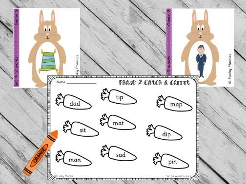 Phonics Phase 2 Easter/Spring - Catch a Carrot