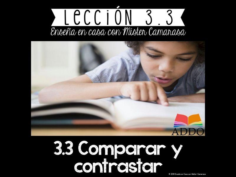 COMPARAR Y CONTRASTAR (20+ TEXTOS) |COMPARE AND CONTRAST SPANISH| - Lección 3.3