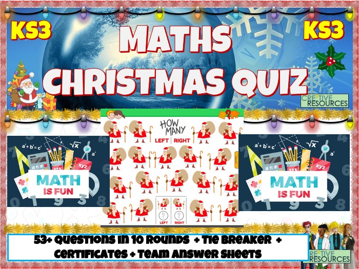 Maths Christmas Quiz