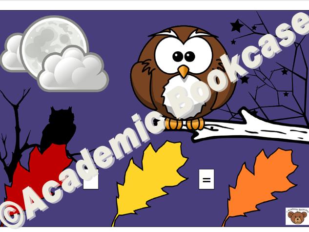 Number sentence mat - Owl