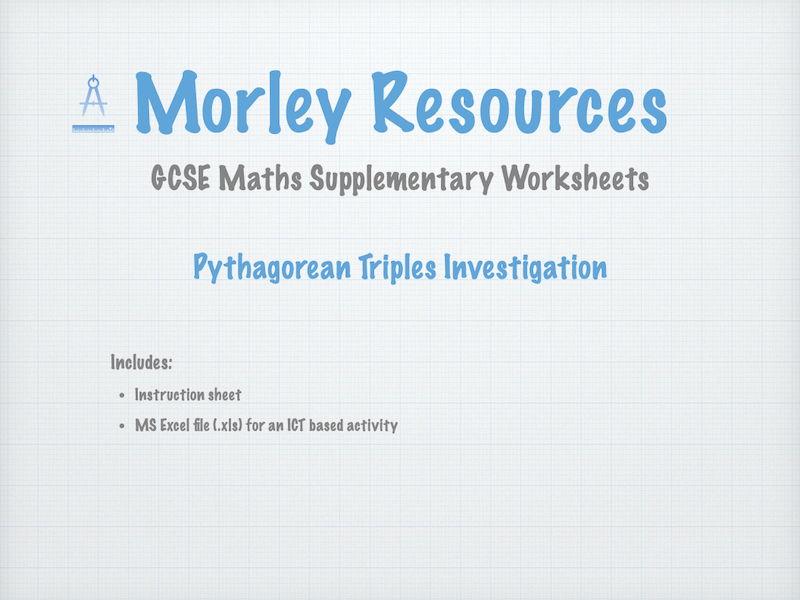 GCSE Maths Pythag Triples Investigation