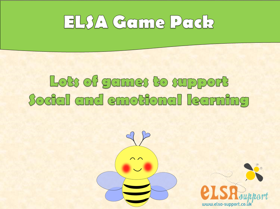 ELSA  SUPPORT GAME PACK - PSHE, EMOTIONS, SELF-ESTEEM