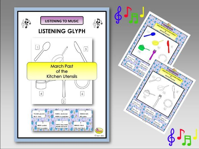 Listening Glyph - MARCH PAST OF THE KITCHEN UTENSILS