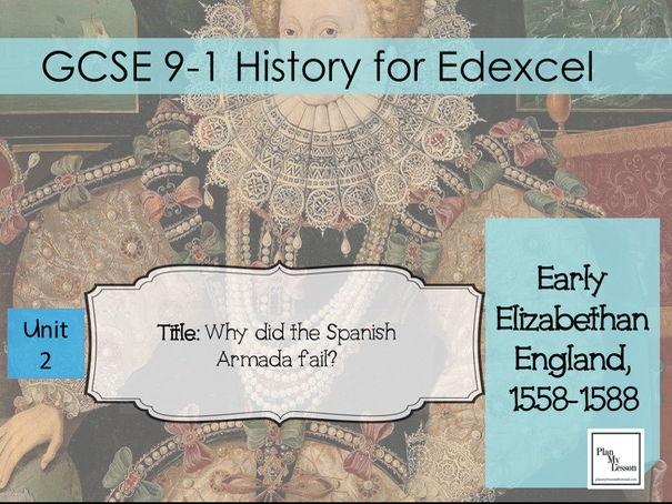 Edexcel 9-1 GCSE Early Elizabethan England: L12 Why did the Spanish Armada fail?