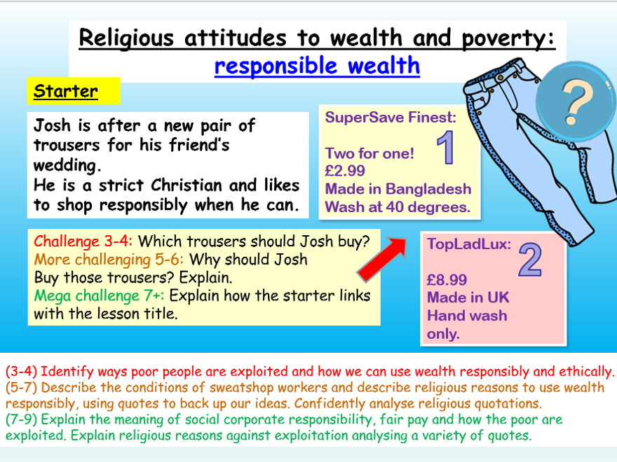 Wealth and Poverty : RS Thematic Studies