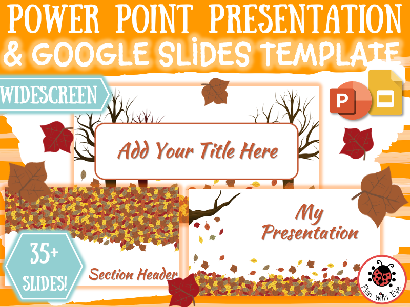 Beautiful FALL PowerPoint / Google Slides Template | Widescreen | Add your own content!