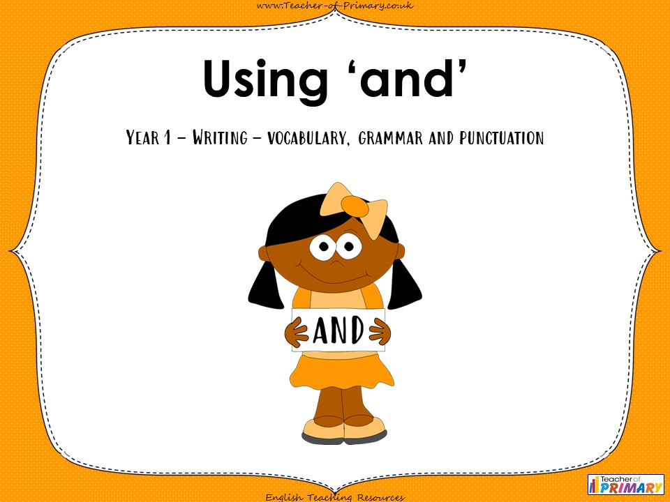 Using 'and' - Year 1