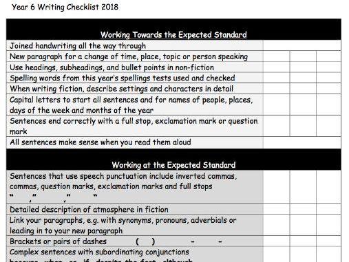 Year 6 writing help