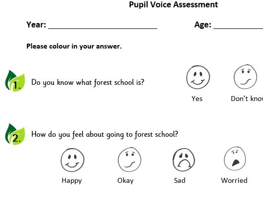 Forest School Pupil Voice Assessment