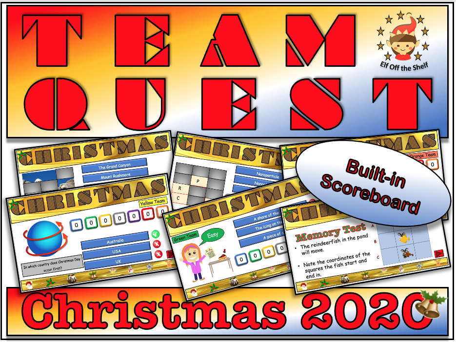 Team Quest Christmas 2020 - Team Building Quiz KS3