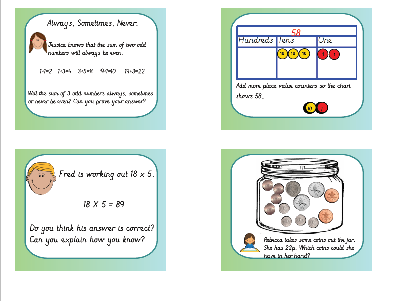 Year 2 Reasoning , Greater Depth and Investigation Bundle