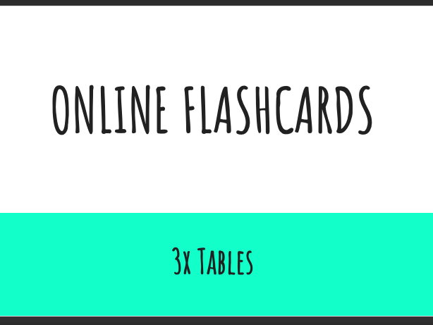 Interactive Flash Cards 3x Tables
