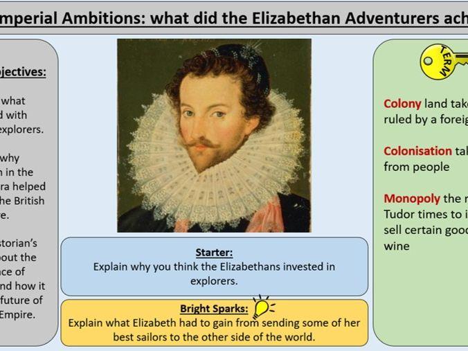 OCR J411 GCE 1-9 The Elizabethans 1580-1603 - Section 5: Elizabethan Adventurers