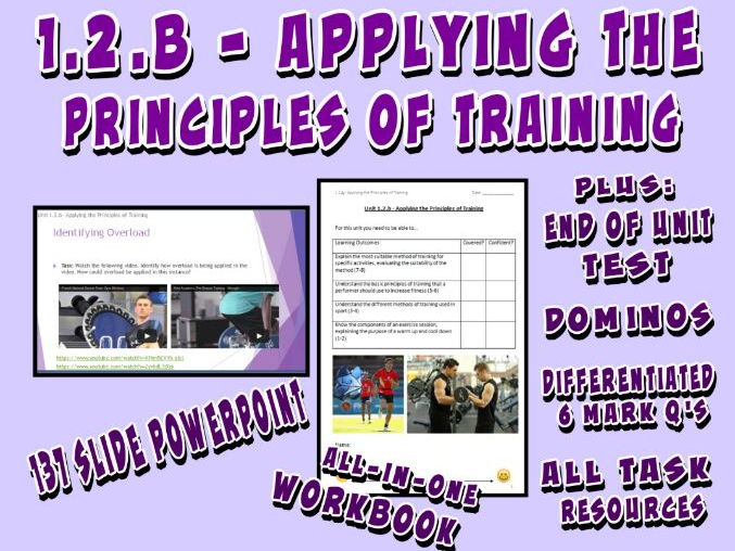 OCR GCSE PE 9-1 (2016) 1.2.b - Applying the Principles of Training - Unit of Work