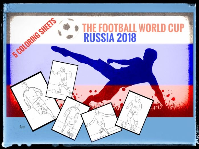 World Cup Soccer 2018 coloring sheets