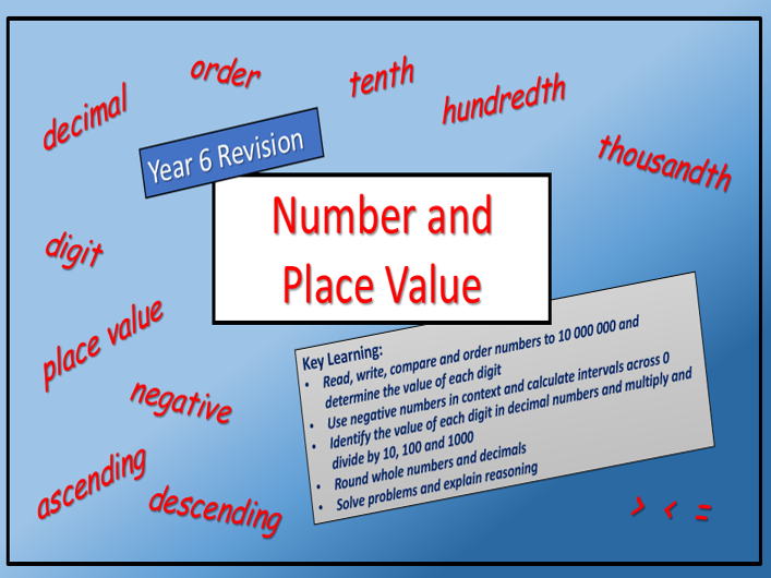 Y6 REVISION - Number and Place Value