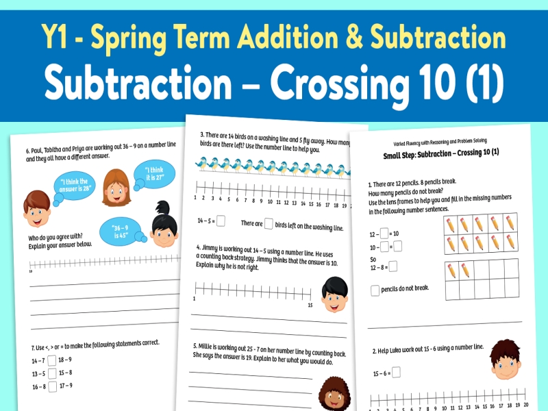 Subtraction Crossing 10 (1): Spring Term, Block 1 – Addition and Subtraction