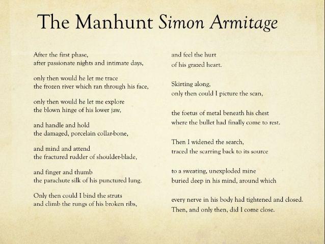 An analysis of simon armitages poem gone