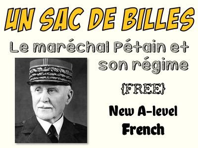 Un sac de billes - Le maréchal Pétain et son régime - FREE