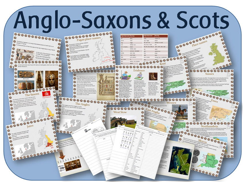 Britain's settlement by Anglo-Saxons and Scots: PowerPoint lessons, worksheets & topic plan