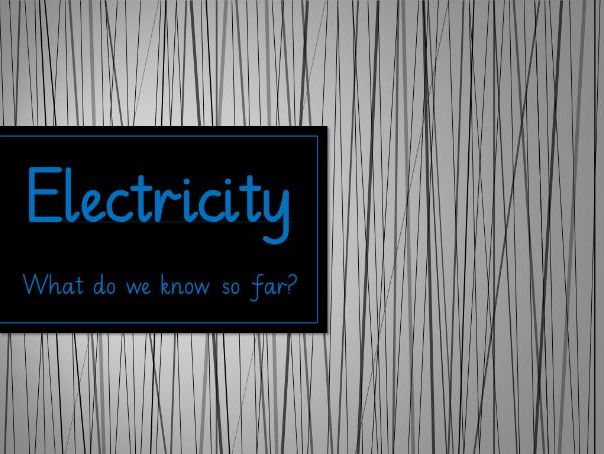 Electricity Unit - Year 4