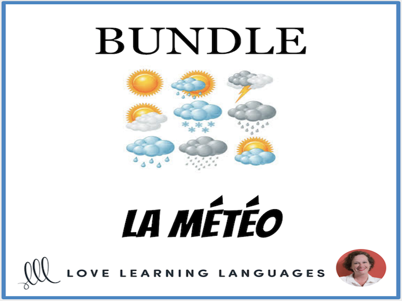 La Météo - Weather - Bundled French Resources
