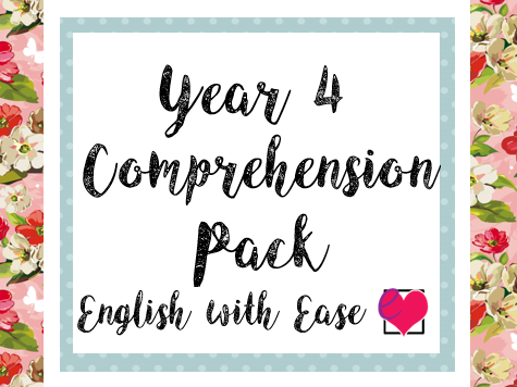 Year 4 Comprehension Pack