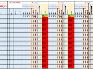 Teacher - Progress and Tracking sheet