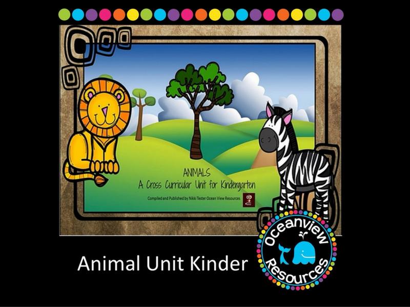 Animal Themed Cross Curricular Unit for Kindergarten