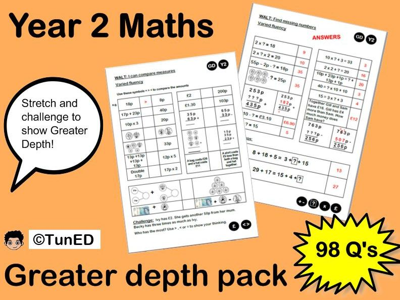 KS1 SATs preparation Maths Mastery  pack - exemplification / moderation  evidence
