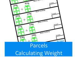 Christmas Parcels, Measurement Worksheets- Calculating Metric Weights, Autism SEND