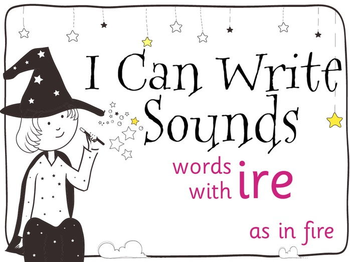 Magic Sounds Phonics Set 52 words with ire (as in fire)