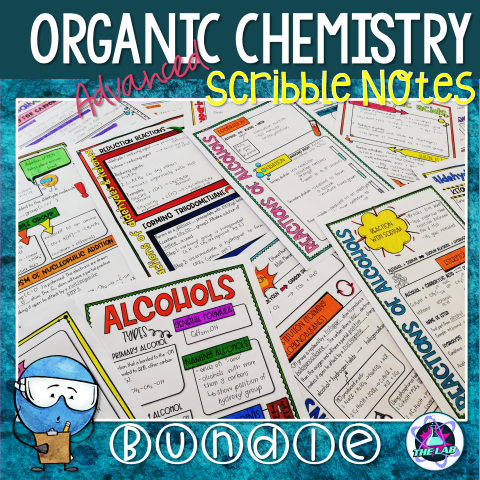 AS/A level Organic Chemistry Scribble Notes Bundle
