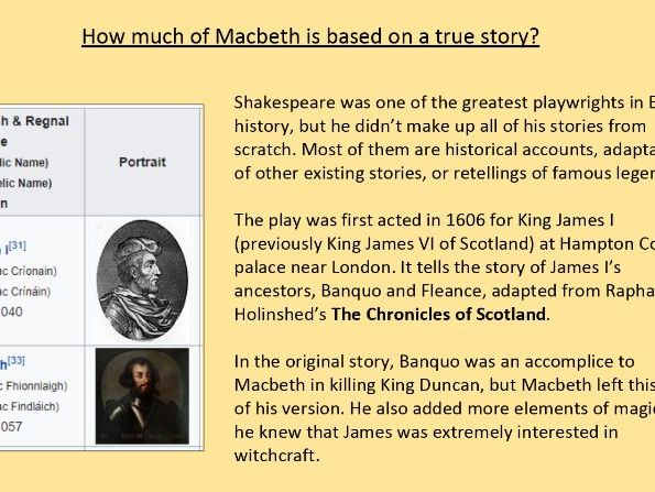 Macbeth context - full week of lessons
