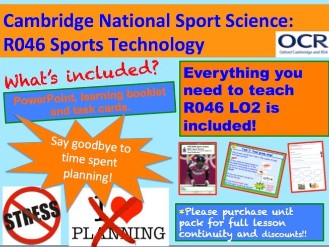 Cambridge National Sports Science R046: Sports Technology Learning Objective 2