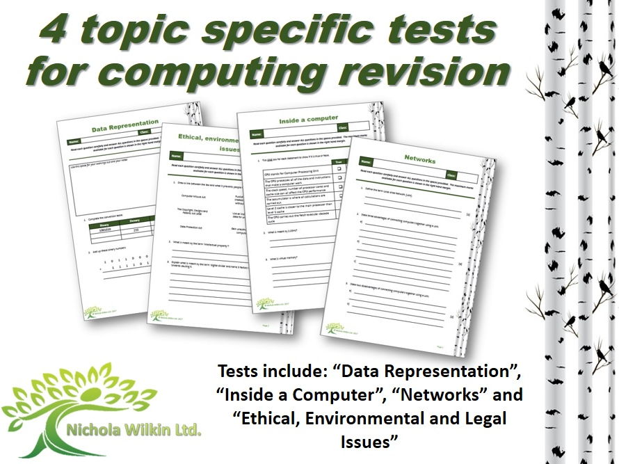 Topic Specific Computing Revision Tests