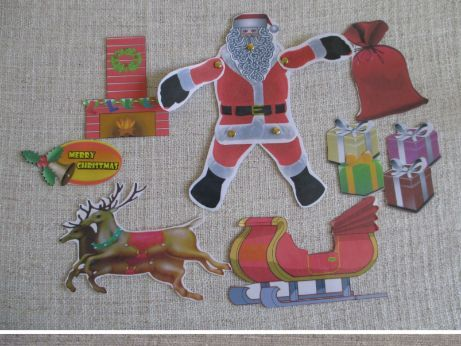 Christmas craft printable Santa Claus, reindeer and snowmen cut out craft activity