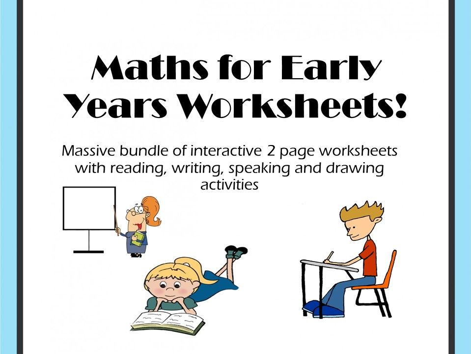 Bundle of Maths for Early Years worksheets